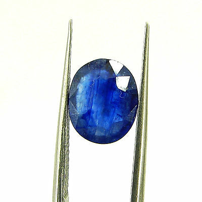 Certified Natural 2.58 Ct Blue Sapphire Loose Oval Gemstone - 117192