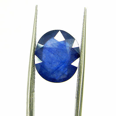 Certified Natural 5.91 Ct Blue Sapphire Loose Oval Gemstone - 117233