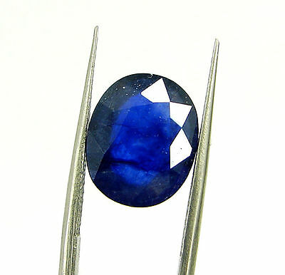 Certified Natural 5.92 Ct Blue Sapphire Loose Oval Gemstone - 117227