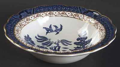 Booths REAL OLD WILLOW BLUE Rimmed Fruit Dessert (Sauce) Bowl 6288296