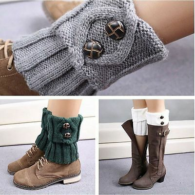 Women Crochet Knitted Trim Boot Cuffs Toppers Leg Warmers Winter Short Socks Hot