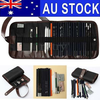 30Pcs Sketch Pencil Set Drawing Sketching Writing Craft Art Student Stationery