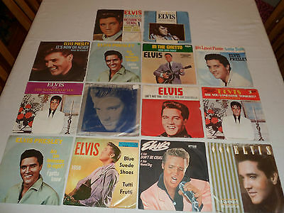 "Elvis Presley Original Picture Sleeve Singles 7"" 45Rpm Vinyl Records All Listed"