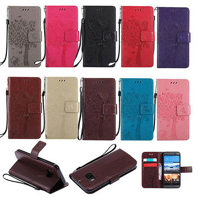 IIDA fr HTC One M8/M9 Phone PU leather wallet case flip folios card holder stand