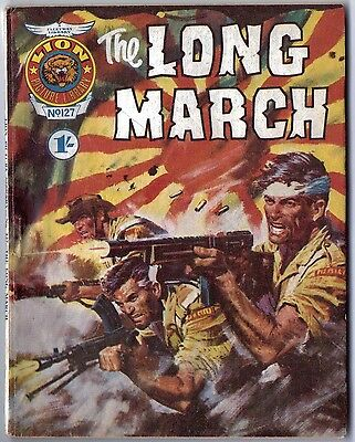 """1969. LION Picture Library Comic #127. """"The Long March"""""""