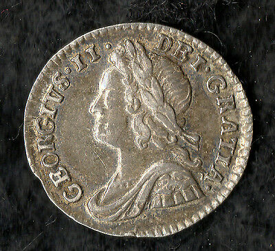 George II Maundy Penny Silver 1743