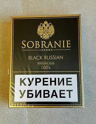 Sobranie Black Russian 10 x 20 Filter Cigarettes free shipping