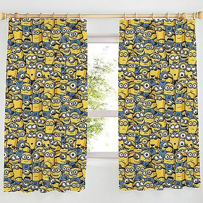 "DESPICABLE ME MINIONS 66"" x 54"" CURTAINS NEW"