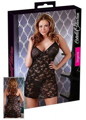 Cottelli Collection Lingerie Neglige Schwarz Gr. S String |57