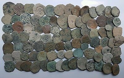 *Prados* LOT OF 90 PIRATE COBS SPANISH COLONIAL COINS