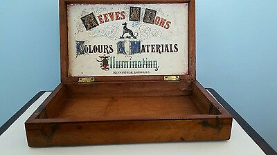 REEVES @ SONS, colours @ materials for illuminating ,wooden box.