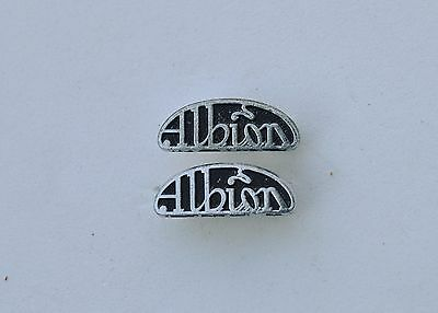 Albion lorry,  truck Commercial Vehicle pin badges x 2