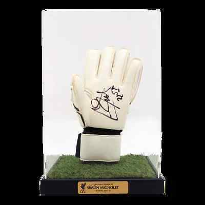 Liverpool FC  LFC Signed Mignolet Glove in Case Official