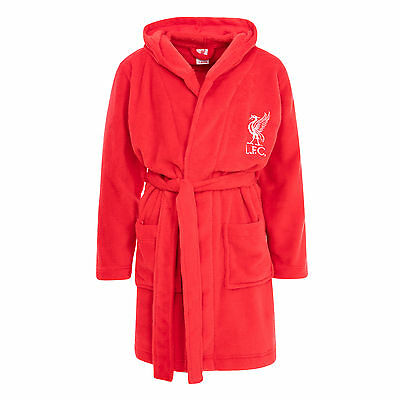 Liverpool FC LFC Kids Boys Girls Red Hooded Bath Robe Gown NWT Official