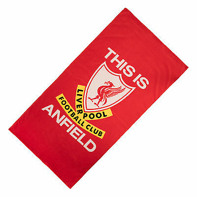 Liverpool FC  LFC Liverbird This Is Anfield TIA Beach Towel Official