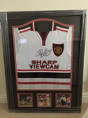 Framed Ryan Giggs Signed Manchester United 1999 FA Cup Semi Final Away Shirt