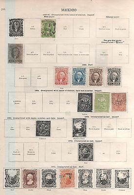 Mexico Stamps on Old Album Pages As Shown in Pictures Mixed Condition 1856-1935