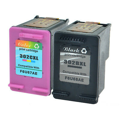 Compatible with HP 302XL 1x Black+1x Colour Ink Cartridge for DeskJet 1110 2130