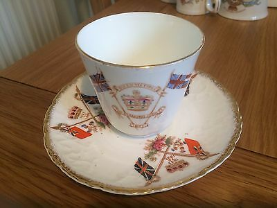 retro cup and saucer queen victoria