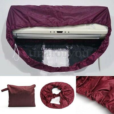Purple Air Conditioner Cleaning Dust Washing Cover Clean Waterproof Protector