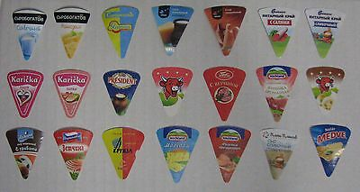 21 Different Triangle Cheese Labels For Collection