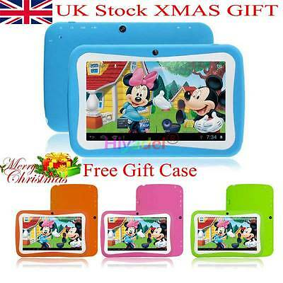 """Uk 7"""" Inch Kids Android 4.4 Tablet Pc Quad Core Wifi Uk Stock Child Children Abc"""