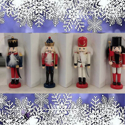 New Set Of 4 Christmas Nutcracker / Soldier Tree Decorations Boxed Festive Fun