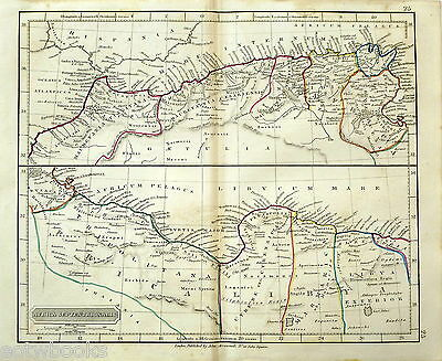 NORTH AFRICA - Original Antique Map of the Ancient World - ARROWSMITH - 1842.