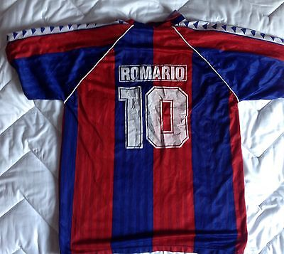 Maillot foot vintage ROMARIO #10 FC Barcelone Barça jersey camiseta camisa