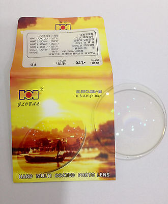 1 pairs Global Bown Photochromic + Myopic Resin MID-INDEX 1.556 (0.00~ -8.00DS)