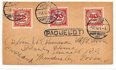 BA31 1938 EGYPT *PAQUEBOT* AUSTRIA Postage Dues Accepted For Postage Cover