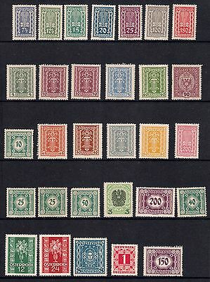 Austria stamps - Lot of 30 stamps, spacefillers, mainly mint (see description)