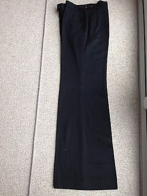 "VINTAGE 1970's MENS Black Bell Bottoms Trousers 33/34"" good condition"