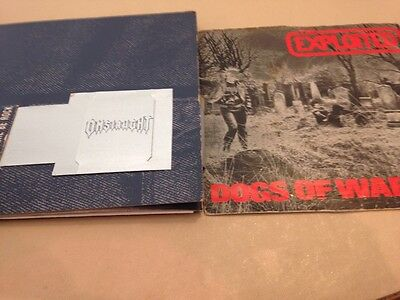 Two Singles The Exploited and Onslaught on Vinyl