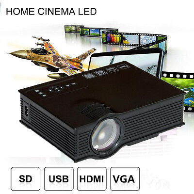 5000LM HD LCD 3D LED Multimedia Projector Home Theater 1080p HDMI USB VGA PC