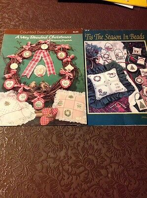 Two Counted Bead Embroidery Books