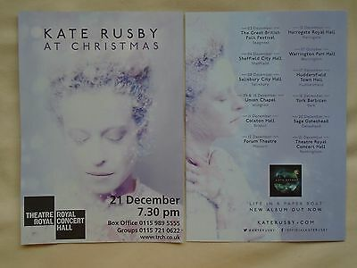 "KATE RUSBY Live at Xmas ""Life in a Paper Boat"" 2016 UK Tour Promo flyers x 2"