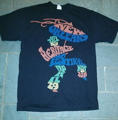 New Orleans JAZZ FEST 2011 Limited Collectible T-Shirt Size medium staff