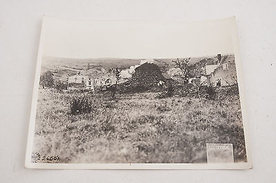 26551 Bombed Buildings US Army Signal Corps Official Photograph WWI 1918 (G4R)