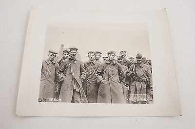 26508 German Prisoners Smoking Pipes US Army Signal Corps Official Photo WWI