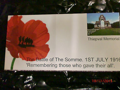 Battle Of The Somme Commemorative Envelope Collection And Free Gift