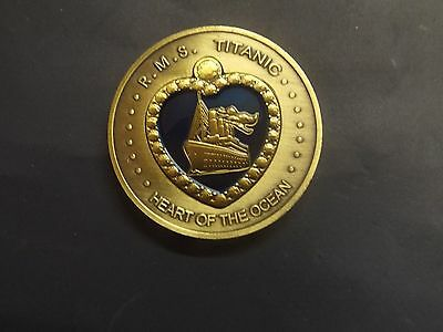 Rare Commemorative Bronze R.m.s. Titanic Heart Of The Ocean Coin + Free Gifts