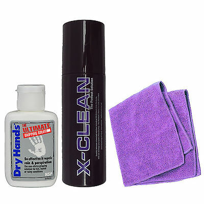 Dry Hands Ultimate Grip Solution 2oz Bottle & X Pole X Clean & X Pole Cloth