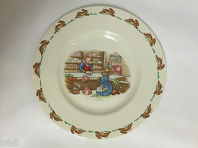 Royal Doulton / Bunnykins / Shopping Child's Plate 8""