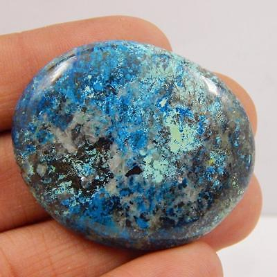 94.3 Cts 100% NATURAL AZURITE BEAUTIFUL COLOUR AND QUALITY CABOCHON L#163-57