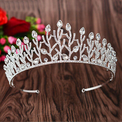 6cm High Branches Crystal Tiara Wedding Party Pageant Prom Crown - 2 Colors
