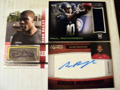 SEATTLE SEAHAWKS lot    ALL AUTO & JERSEY LOT x3