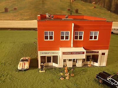 MINT NOS Lighted Tyco Theatre Store Building for Train Slot Car Race Track Sets