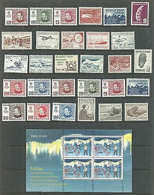 Greenland 1975-collection of 29+sheet.Mnh.unused.Mint.