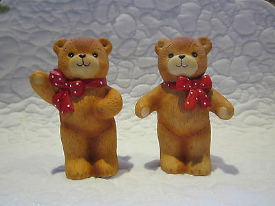 2 Lucy & Me Red Polka Dot Bow Bears
